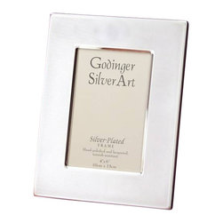 Godinger Silver - Silver Plated 4 x 6 Picture Frame - This photo frame is the perfect gift for someone who adores pictures! Its silver plated border will surely add the perfect finishing touch to your home. Just place this on your chest and enjoy looking back at those beautiful moments!