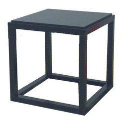 ORE International - Stackable Black Cubic Table - Use this unique style stackable cubic table made in black as an end/side table. Place decorative items and stack with other colors stackable cubic table to bring out a modern styling look. Table made in wood composite for strength and durability to last years. Easy assembly. Dimensions: 14.25 in. L x 14.25 in. W x 14.5 in. H ( 14.25 lbs. )