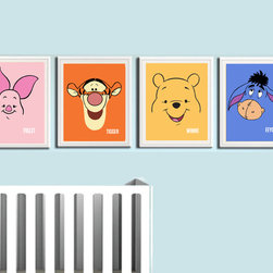 Winne the Pooh - Nursery Room Prints - 4 Print