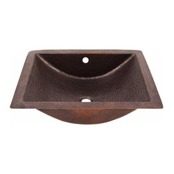 The Copper Factory - Copper Factory Copper Concave Undermount Lavatory Sink Copper - Copper Factory Copper Concave Undermount Lavatory Sink Copper