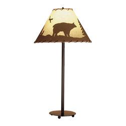 "Meyda Lighting - Meyda Lighting 48465 29""H Bear in The Woods Painted Table Lamp - Meyda Lighting 48465 29""H Bear in The Woods Painted Table Lamp"