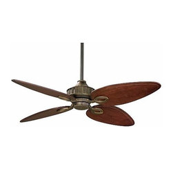 Fanimation - Fanimation Bayhill 250 Ceiling Fan in Venetian Bronze - Fanimation Bayhill 250 Model LB250VZ in Venetian Bronze with Cairo Purple Custom Carved Wood Finished Blades.