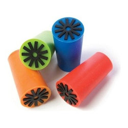 Assorted Multi-Colored Silicone Corks - These multi-colored silicone stoppers add a bright touch to any bottle of wine. A best seller, use these stoppers to store your wine. Comes in a set of 12 stoppers, in a random mix of 4 different colors (red, orange, green, blue).