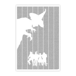 Postertext - The Wonderful Wizard Of Oz Art Print - Made Entirely With Text (B & W) - The Wonderful Wizard of Oz poster is created using the entire text of the book.