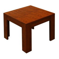 Boss N22-C End Table - Cherry - The Boss N22-C End Table - Cherry is a contemporary-style furnishing that looks great in any environment whether it's an executive's office, your home living area, or even the bedroom. The attractive cherry finish radiates a warm, complementary glow that really enhances the surrounding decor and the durable wooden construction with protective laminate is built to last. Even the edges are banded with 3-mm. PVC to bring you long-lasting performance that you won't get with lesser end tables. The Boss End Table is dependability and style at an affordable price. Measures 22W x 22D x 19H inches. Some assembly is required.About Boss Office ProductsWilliam Huang, Boss Office Product's CEO, established the Los Angeles-based company in 1990. The company began as an importer, distributing Taiwanese-crafted chairs to retailers and dealers throughout the United States. A year later, in 1991, Boss became the first US office chair distributor to establish manufacturing facilities in China, a major step forward for the company, which now has distributors around the globe. In 2003, Boss was ranked as one of Inc. Magazine's 500 fastest growing private companies in America. That tremendous growth continues today, as Boss continually delivers exceptional office products to companies around the world.