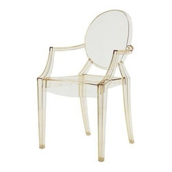 Kartell - LouLou Ghost Chair, Set of 4, Transparent Yellow - Designed by Philippe Starck.