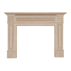 "Pearl Mantel - The Classique Fireplace Surround, Unfinished, 50"" - Keeping the home fires burning is infinitely easier when you have a beautiful fireplace surround to add a little warmth to the situation. Having a mantel wide enough to display personal treasures and prized artifacts just adds fuel to the fire of your prodigious nesting instincts."
