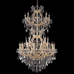 """Elegant Lighting 2800D36SG/SS 34 Light Maria Theresa Crystal Chandelier - Additional 10% Discount: Coupon code """"Houzz"""""""
