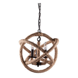 Zuo Modern - Zuo Modern Caledonite Ceiling Lamp in Twine - Ceiling Lamp in Twine belongs to Caledonite Collection by Zuo Modern Lamp (1)