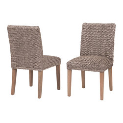 Marco Polo Imports - Thornton Dining Chair-Grey - Pristine dining chair woven from quality white banana leaf with a classic grey finish. A perfect addition to any dining room.