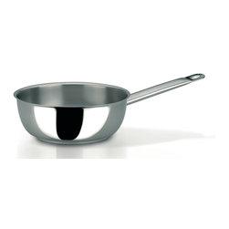 Frieling - Profiserie Saucier Pan, 3.4 qt. - Commercial grade thick aluminum core sandwiched between 18/10 stainless steel