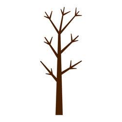 "My Wonderful Walls - Forest Tree Stencil for Painting - - 4 stencils measure 17.5""w x 46""h, 3""w x 6.5""h, 2""w x 4""h, and 4""w x 4""h"