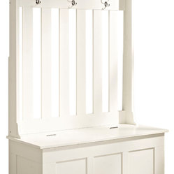 "Crosley - Ogden Entryway Hall Tree, White - Dimensions:  63"" H x 42"" L x 18"" D"