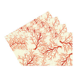 Enchante Accessories Inc - Raymond Waites Reversible Place mats - Set of 4 (Beige/Branches) - Premium quality 100% cotton table linen with finished seamExpertly tailored with high quality cotton linenMachine wash in cold with like colors, colors do not bleedFloral patterns with elegant vintage styleSet of 4 Cloth PlacematsElegant and functional, these cloth placmats serve to dress a table. Use on dining room tables, banquet tables and restaurants. We carefully select high-quality fabrics and threads to create every table linen. Made from natural materials and dip-dyed with non-toxic dye, the reactive dyeing process makes the table linens a beautiful and solid color while maintaining their natural softness.These gorgeous floral prints invite lively conversations for brunch, lunch, garden parties and casual dining. Made in India of 100% cotton, in deep colors as shown, these exciting placemats are beautifully finished with fine printed elegant patterns.These high quality cotton table placemats have a wonderfully vintage feel and are a great way to enhance your dining room setting. The place mats come in a variety of patterns and colors. They come packaged in a protective plastic button sealed case. (Set of 4)