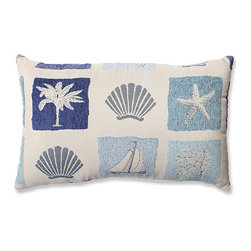 Pillow Perfect - Catalina Ocean Rectangular Throw Pillow - - Breathe a little fresh, salty air into your d�cor with some seaside style. Our blue coastal throw pillow brings ocean charm indoors. Filled with plush polyester loft and knife-edge trim, this adorable accent is impeccably crafted. Transport yourself to the beach as you lay back and relax after a long day.  - Knife Edge, Sewn Seam Closure   - Clean and Care: Spot Clean Only  - Made in the USA Pillow Perfect - 571317