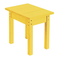 C.R. Plastic Products - C.R. Plastics Small Table In Yellow - Can be used for residential or commercial use, Ergonomically designed, Heavy 78 gauge plastic lumber 12 used by competitors, All stainless steel hardware, No painting, No slivers, No Rot, Completely waterproof