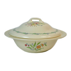 Lavish Shoestring - Consigned Serving Bowl & Lid w/ Fairfield Floral Decoration by Royal Doulton, - This is a vintage one-of-a-kind item.