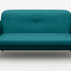 Cup Love Seat, Teal - The Cup love seat is gorgeous in vibrant teal blue. Its simple lines will fit any room.