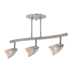 Access Lighting - Access Lighting 52030-BS/OPL Comet Modern Track Light - Brushed Steel - Access Lighting 52030-BS/OPL Comet Modern Track Light In Brushed Steel