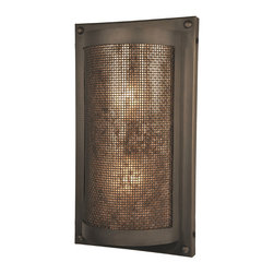 Steel Partners Inc - Tahoe Sconce - RIVETS - Mesh - Every piece we create is unique — handcrafted at our factory in Chehalis, Washington, USA. Due to this, lead times are 2 to 4 weeks.