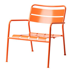 ROXO Armchair - What better way to announce summer than with cheerful patio chairs, like an orange slice of heaven.