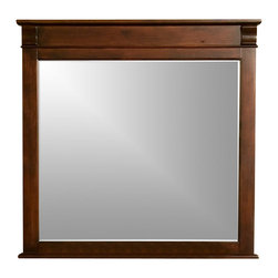 Alpine Furniture - Windsor Mirror in Cherry - Windsor Mirror in Cherry