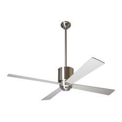 """Modern Fan Company - Modern Fan Company Lapa Bright Nickel 42"""" Ceiling Fan + Wall Control - Features:"""