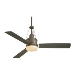 """Emerson - Emerson CF205GES 54"""" 3 Blade HighPointe Ceiling Fan - Blades, Controller and Lig - 3 Blade 54"""" HighPointe Ceiling Fan in Golden Expresso Finish - Blades, Controller and Light Kit IncludedThis streamlined fan captures an urban architectural style where every detail is accounted for with its trendsetting industrial wire cables and novel blade fasteners. Integrated light fixture is great for task lighting and can be replaced with a cover plate if desired.Features:"""