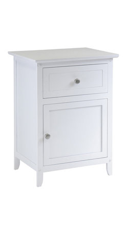Winsomewood - Night Stand Accent Table With Drawer - If you're ready to get rid of that old TV stand next to your bed, now's the time. You deserve a real piece of furniture that has a drawer and a door you can actually close. Just think how much tidier your room will be.