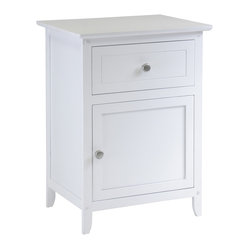 Nightstand Accent Table with Drawer