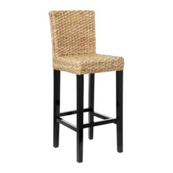 Z Gallerie - Hyacinth Bar Stool - A beautiful and natural material is woven over a simple modern form to create our Hyacinth Collection. Water hyacinth is a sustainable and renewable fiber and gives a great look and comfort to any dining collection.