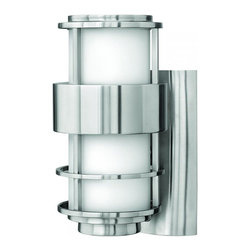 Hinkley - Hinkley Saturn One Light Stainless Steel Outdoor Wall Light - 1900SS - This One Light Outdoor Wall Light is part of the Saturn Collection and has a Stainless Steel Finish. It is Outdoor Capable, and Wet Rated.