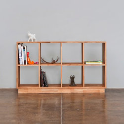 LAXseries 4x2 Bookcase - One of the most functional pieces in the LAXseries catalog is the 4x2 bookcase. Instead of hiding your glasses and dinnerware in the dark - try an open-air buffet, or simply divide a room with your prized knick-knack collection. This bookcase will look beautiful no matter what the setting.
