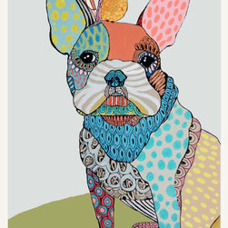 Custom Pet Portraits by Matea Sinkovec - I'm a big fan of the pop of color and the loose translation of the animal. The patterns are so fun and playful.