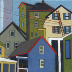 Blue House on Prospect Hill by Stacey Durand