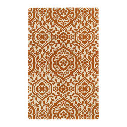 Kaleen - Kaleen Evolution Collection EVL04-89 3' x 5' Orange - The Evolution collection completely embraces the history of classic elegance and traditional expertise of Kaleen Rugs, while perfectly capturing the evolving high fashion and hot new trends of today's design. Dramatic patterns showcasing precise attention to details and a unique twist of color will add the perfect addition to your home. Each rug is Hand-Tufted in India with a 100% soft and luxurious wool.