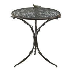 Cyan Design - Cyan Design Bird Bistro Table, Muted Rust - -Muted Rust Finish