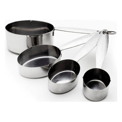 Cuisinox - Measuring Cup - Set of 4 - This handy and sturdy stainless steel measuring cup set of 4 is built to last a long time.
