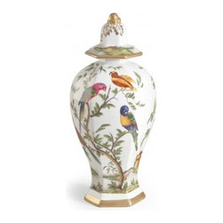 EuroLux Home - Urn Bird Paradise Flower Ceramic - Product Details