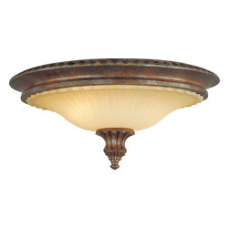 Murray Feiss - Murray Feiss Stirling Castle Traditional Flush Mount Ceiling Light X-BRB232MF - Ornate detailing and rich finishes create a more intricate look to this eye-catching Murray Feiss flush mount ceiling light. From the Stirling Castle Collection, the eye-catching curvature of the antique excavation glass shade compliments the details of the base and finial. An elegant British Bronze finish pulls this traditional ceiling light together.