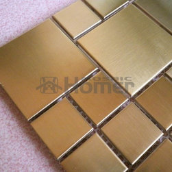 free shipping,golden color stainless steel metal mosaic tiles from HOMER MOSAIC - Item No.: