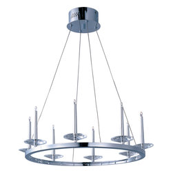 ET2 - Et2 E23183-20PC Circolo 8-Light Chandelier - ET2 E23183-20PC Circolo 8-Light Chandelier