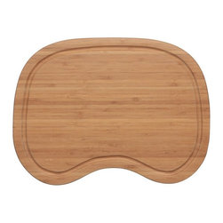 "Ukinox - Ukinox CB345HW Wood Cutting Board - Constructed from high quality bamboo hardwood, this cutting board seamlessly blends durability with ease of use. Designed to provide a convenient place for prepping and cleanup, the cutting board slides comfortably from side to side within a sinks beveled edge. Features: Bamboo hardwood cutting board. Beveled to sit within sink ledge. 3/8"" juice channel to drain liquids away from the cutting surface. Fits undermount sinks with min. 1/2"" reveal. Specifications: Total Product Length: 10.75 in. Total Product Width: 14.5 in. Total Product Thickness: 1 in. Product Weight: 2 lbs. Material: Bamboo Hardwood."