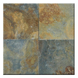 "China Multicolor Cleft Finish Slate Floor & Wall Tiles 12"" x 12"" - 12"" x 12"" China Multicolor Solid Polished Finish Square Pattern Slate Flooring Tile features a China Multicolor to accent many home interiors. This beautiful slate tile features a smooth, high-sheen finish and a random variation in tone to help add style to your decor along with your bathroom vanity. Designed for floor, wall and countertop use, this Slate tile is marginally skid resistant to suit your needs. Simply gorgeous tile."