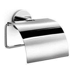 WS Bath Collections - Napie Bathroom Toilet Paper Holder w Cover in - Made by Lineabeta of Italy. Product Material: Polished Chrome. Dimensions: 3.2 in. W x 5.3 in. L x 6.3 in. H