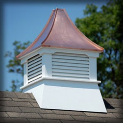 Suncast - Suncast Homeplace Belvedere Cupola - RCB - Shop for Building Materials from Hayneedle.com! Top it off with the Suncast Homeplace Belvedere Cupola on your garden building or outdoor structure. The authentic copper roof with concave slope will age nicely to a light green/gray color when exposed to the elements. The white color of the maintenance-free recycled plastic lumber will last as it' been UV protected to prevent the color from fading or discoloring. Designed for a roof with a pitch up to 10/12 this cupola is sure to provide an eye-popping appeal everyone will adore. About Suncast CorporationSuncast is known for its high-quality low-maintenance storage products and accessories. Organize gardens back yards garages basements and more. Suncast's full line of products includes everything from storage lockers to sheds and bins. Suncast pieces are designed for low-maintenance worry-free performance that's versatile enough to suit your every need.
