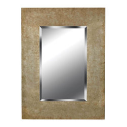 """Kenroy - Kenroy Sheen Framed Wall Mirror X-39006 - Chic and a little glitzy, Sheen's frame is in generous proportion to its beveled mirror, reflecting a marvelous mixed metallic texture.  Overall Product Dimensions:  40 Inch Height, 30 Inch Width Mirror Size:  28 Inch Height, 18 Inch Width 1""""  Beveled Silver Mirror"""