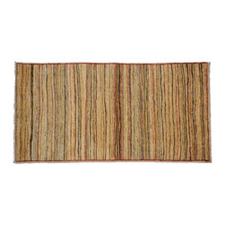 Gabbeh Peshawar Oriental Rug, 100% Wool Hand Knotted 3'x6' Striped Rug SH8288 - Our Modern & Contemporary Rug Collections are directly imported out of India & China.  The designs range from, solid, striped, geometric, modern, and abstract.  The color schemes range from very soft to very vibrant.