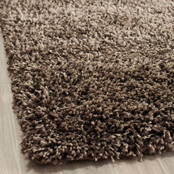"Safavieh - Shag Shag Hallway Runner 2'3""x11' Runner Mushroom Area Rug - The Shag area rug Collection offers an affordable assortment of Shag stylings. Shag features a blend of natural Mushroom color. Hand Tufted of Acrylic the Shag Collection is an intriguing compliment to any decor."