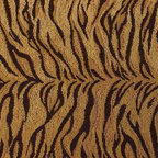 Tiger Faux Fur Upholstery Fabric - This luxurious faux fur tiger chenille fabric is well suited for any home decor or upholstery application. Is has a woven jacquard construction with a raised chenille. The fabric has a beautiful, rich golden shimmer than a digital photograph does not do justice. Addition specifications are listed below ...